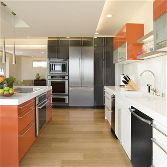 modern-orange-kitchen